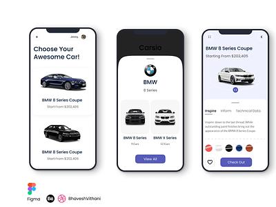 Car Store App UI/UX Design designer ui mobile ui figma app design app
