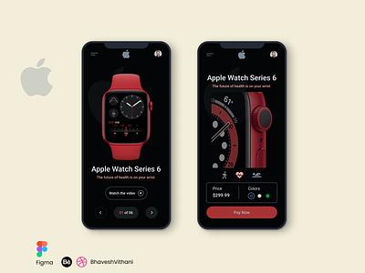 Apple Series 6 Watch Mobile App UI app ui app figma mobile ui ui dark mode
