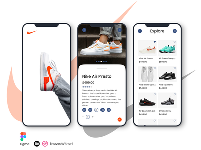 Nike Mobile App UI figma app design mobile ui ui app