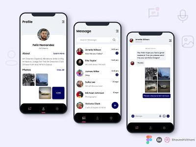 Chat App UI chatting chatting app profile design chat app chat app ui app design ui mobile ui figma