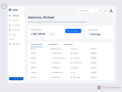 Online Banking Web App Dashboard Design ux webdesign uiux ui web ui web app web online