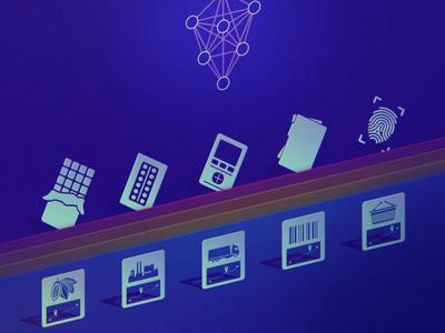 Shiping icons ui identity design blue icons isometric kadasarva illustration teaser icon