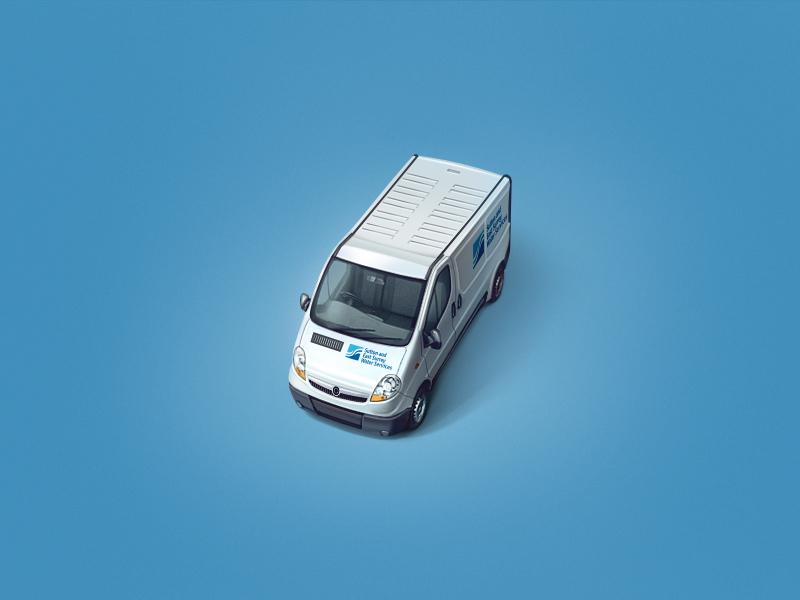 Service icon teaser service car