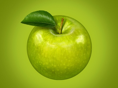 Apple photo photo manipulation retouch illustration package apple green