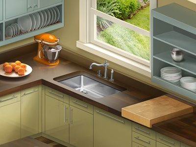 Kitchen illustration teaser kitchen magazine window