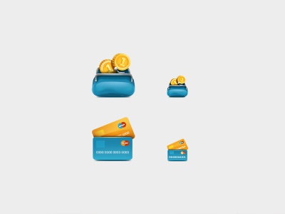 Small icons purse card money icon teaser