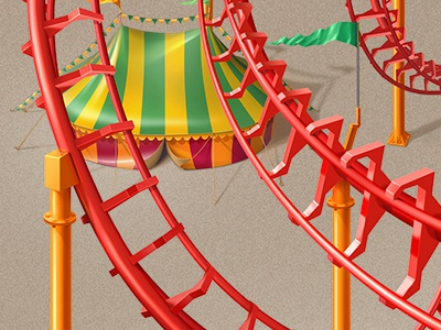 Rollercoaster marquee rollercoaster illustration teaser