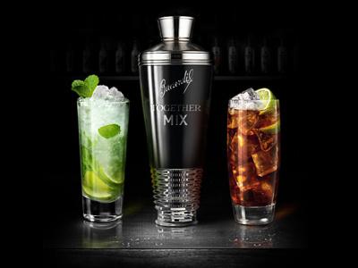 Cocktails teaser app cocktails shaker black