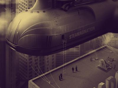 Steamagination matte cover futurism