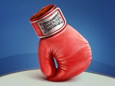 Boxing icon teaser boxing gloves red