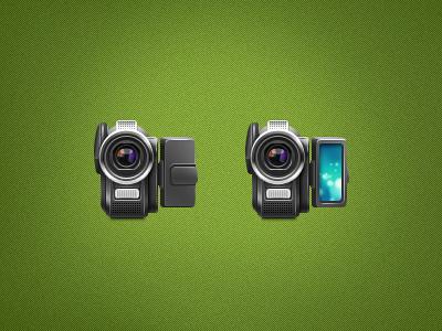 Camera icon teaser camera green