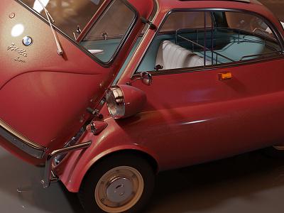 Wip Isetta render car illustration kadasarva cycles render cycles render isetta blender3d