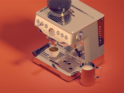 Coffe Machine digital illustration teasers icons digital 3d espresso machine cycles kadasarva isometric icons isometric coffee