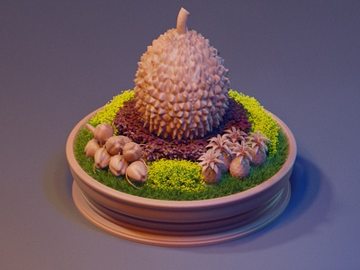 The Picture of Durian Gray blender3d cyclesrender webdesign digital illustration tourist kadasarva teasers icon durian isometric icons isometric
