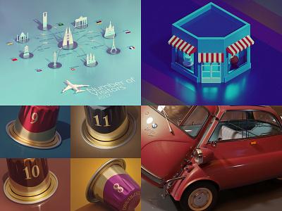 2018 infographic blender 3d cyclesrender ui illustration isometric kadasarva teaser icon