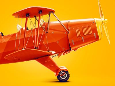 Bücker Bü 131 design drawing color red yellow kid digital 2d 2d art icon illustartion kadasarva plane aircraft