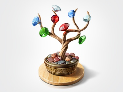 Diamond Tree icon teaser diamond tree bonsai