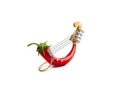 Hot Pepper icon teaser pepper chilly bass guitar
