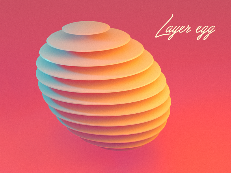 Layer Egg coral illustration layer style layer-art layer egg design kadasarva teaser