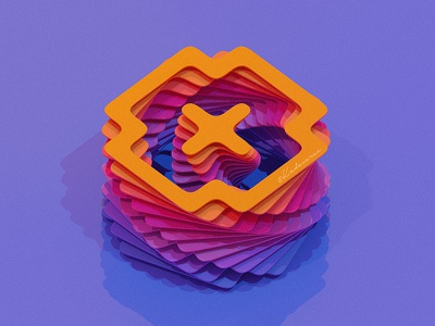 Geometric 3d art color layer style layer-art popart design isometric kadasarva illustration icon