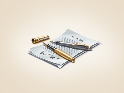 Partnership icon teaser parker pen contract partnership