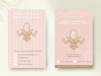 Business cards for a candy shop