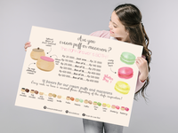 Hanging menu for a bakery shop