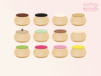 Illustrations for a bakery shop