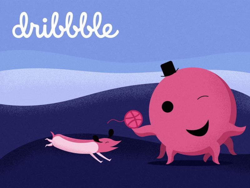 Oswald for my Dribbble fam oswald dribbble best shot illustration dribbble dribbble ball