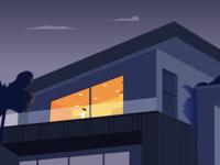 Midnight balconies