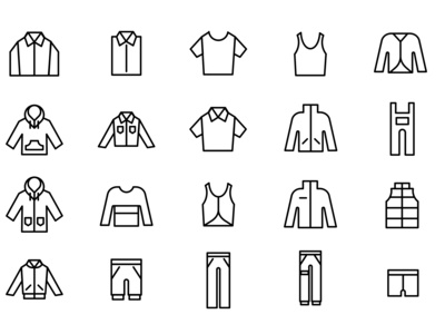 Minimalist outfit line icon