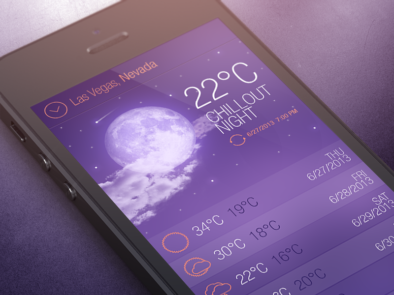 Dreamy weather weather purple night sky app iphone moon ios dream concept dark cloud android