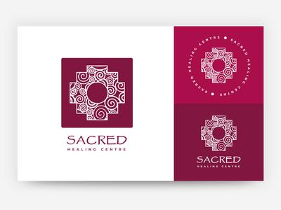 Sacred Healing Centre logo design