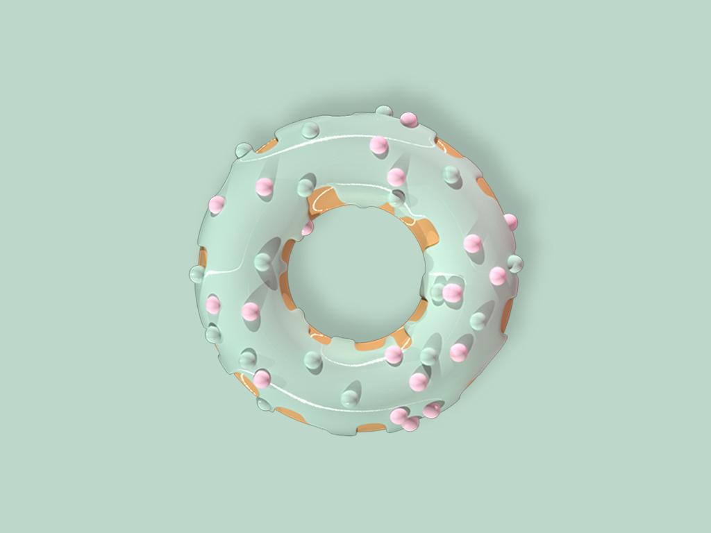 Donut/w ui mint photoshop maxonc4d design graphic  design illustration vector donut cinema 4d 3d art