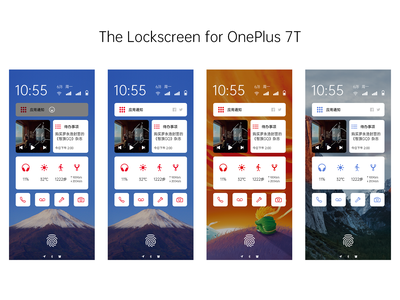 The Lockscreen for OnePlus 7T ui mobile design phone lockscreen