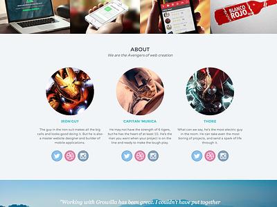 Growilla Creative Template portfolio design website responsive webflow