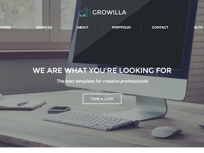 Growilla Creative Template portfolio design website responsive webflow