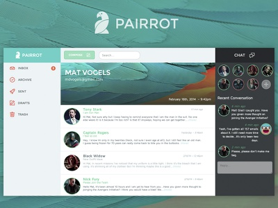 Pairrot - Simple Email email pairrot mail web app desktop webflow