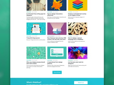 Redesigning the Webflow Blog … with Webflow CMS inspiration design webflow blog