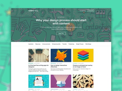 Redesigning the Webflow Blog … with Webflow CMS inspiration design webflow blog
