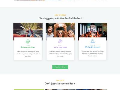Zestful Homepage activities homepage website zestful