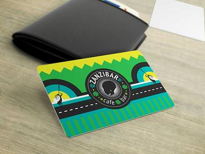 Zanzibar card zanzibar card bar restaurant cafe vector branding font lettering cyrillic logo flat design minimal