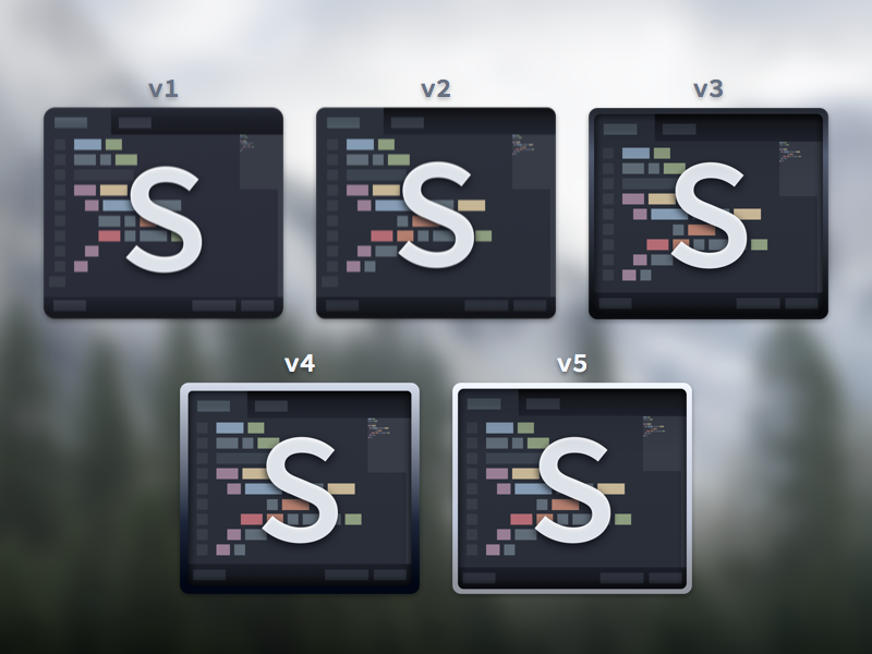 WIP - Sublime Text Replacement Icon sublime text sublime text 2 3 replacement icon yosemite wip ocean base16