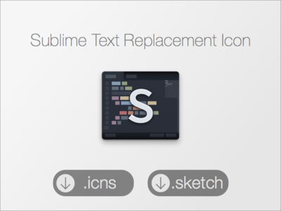 Final Sublime Text Replacement Icon