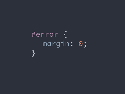 No Margin for Error margin css pun error 0
