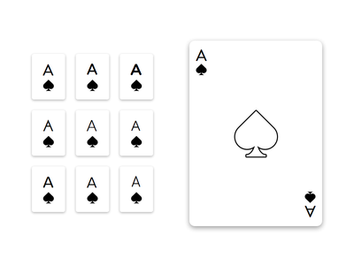 Simple Playing Card Styles simple minimalistic card spades ace