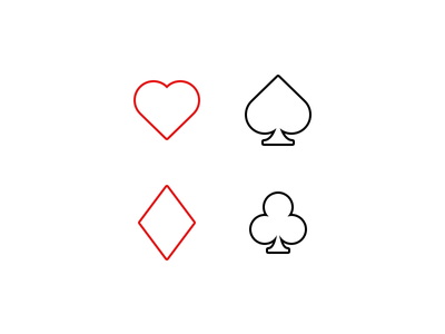 Simple Playing Card Icons simple minimalistic card spades hearts diamonds clubs