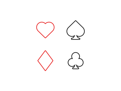 Simple Playing Card Icons