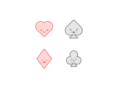 Cute Playing Card Icons