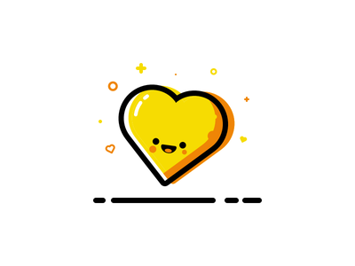Show Some Love! style mbe planet heart illustration vector